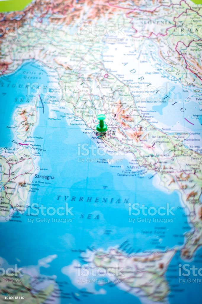 Pin Pointing At Rome Italy Stock Photo More Pictures Of Blue Istock