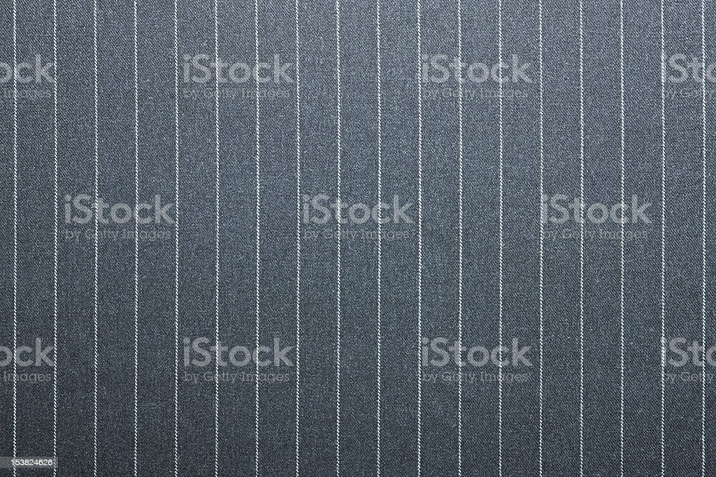 Pin striped suit texture in grey and white stock photo