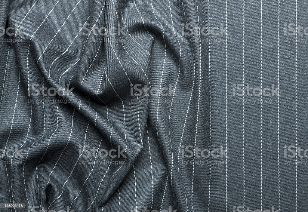 Pin striped suit with creases stock photo