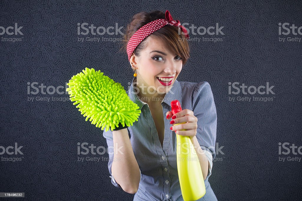 Pin Up Housewife royalty-free stock photo