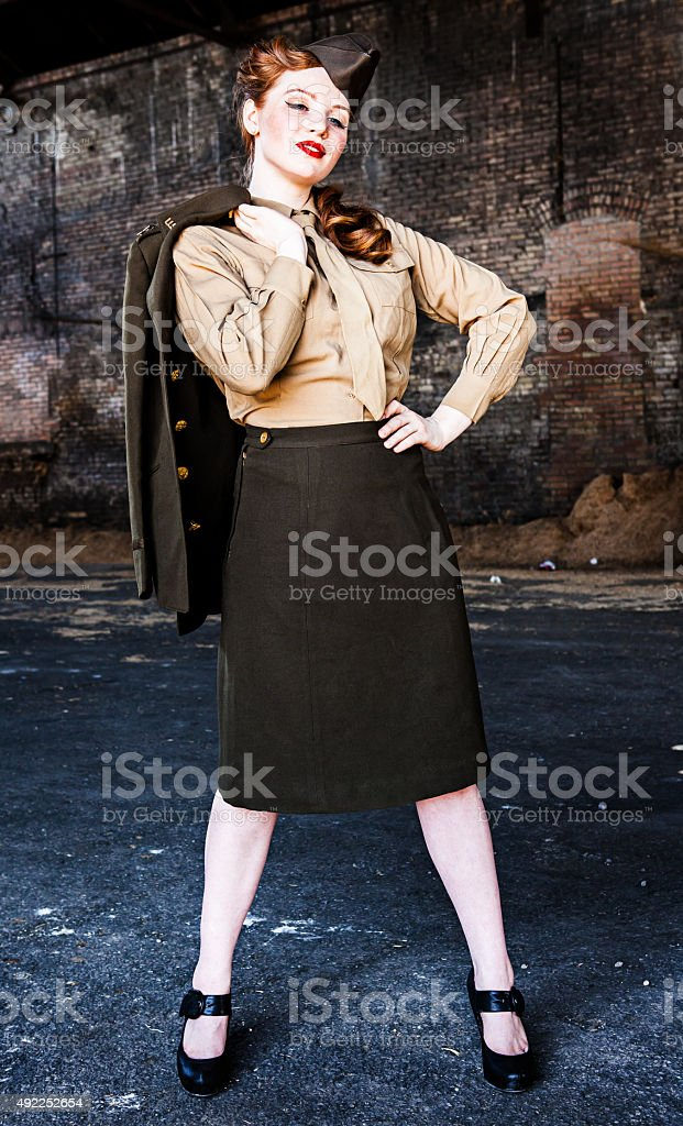Pin Up Model WWII stock photo