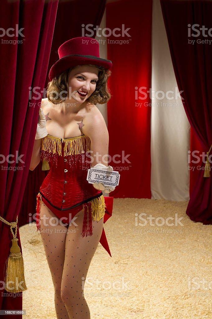 pin up usherette royalty-free stock photo