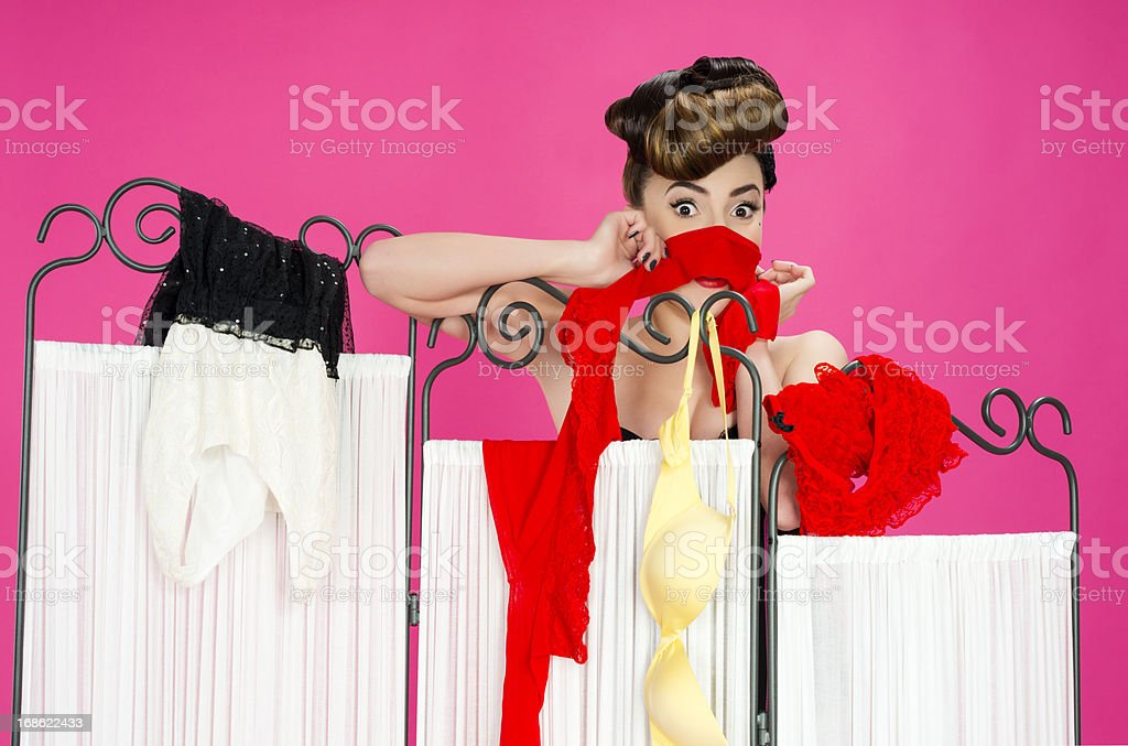 pin up with clothes royalty-free stock photo