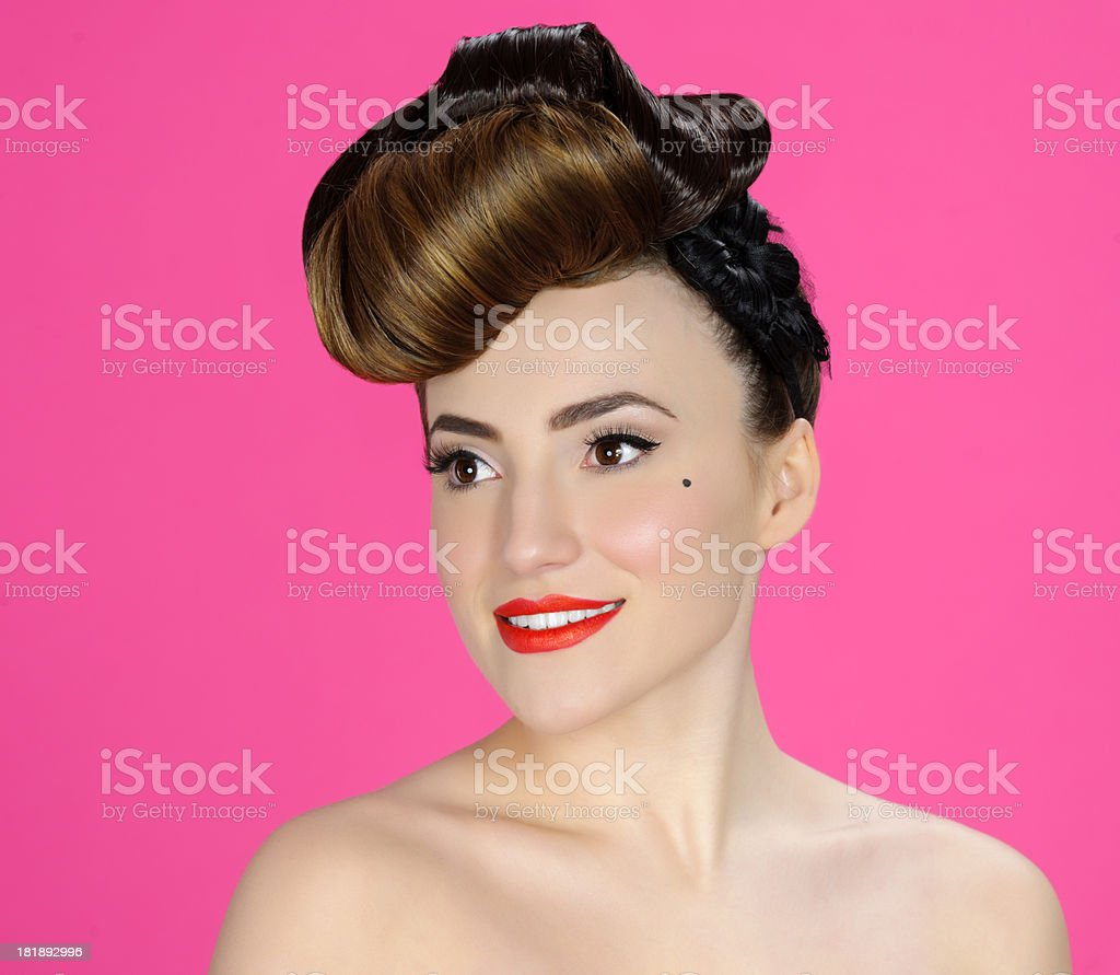 pin up woman portrait royalty-free stock photo