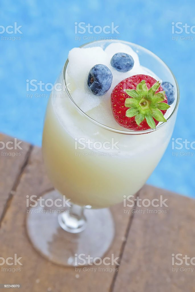 Pina Colada by the Pool royalty-free stock photo