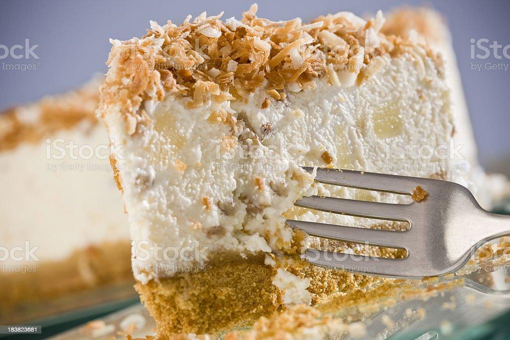 Pina Colada Cheesecake royalty-free stock photo