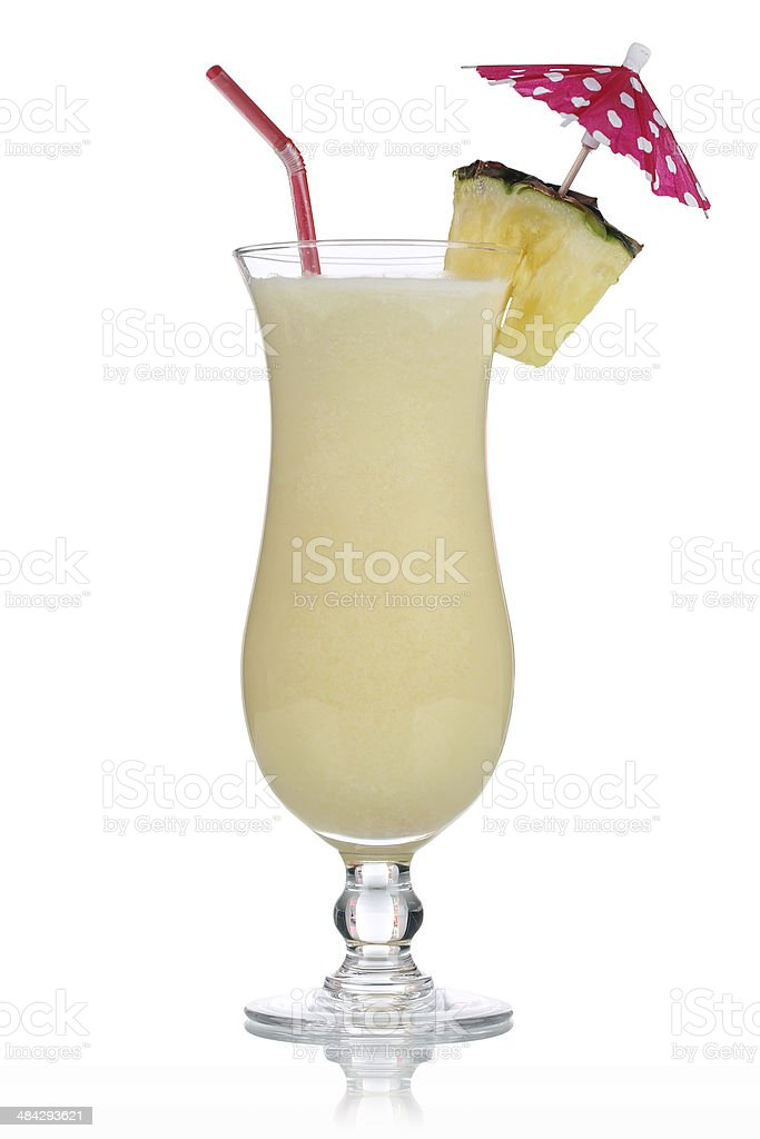 Pina Colada Cocktail isolated stock photo