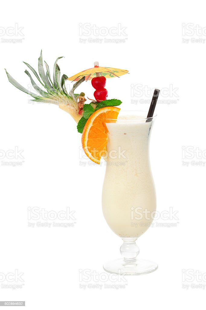 Pina Colada cocktail stock photo