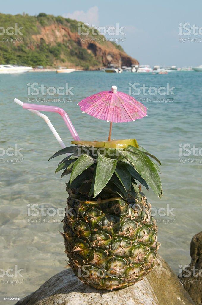 Pinacolada on beach royalty-free stock photo