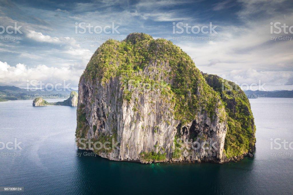 Pinagbuyutan Island El Nido Palawan Philippines royalty-free stock photo