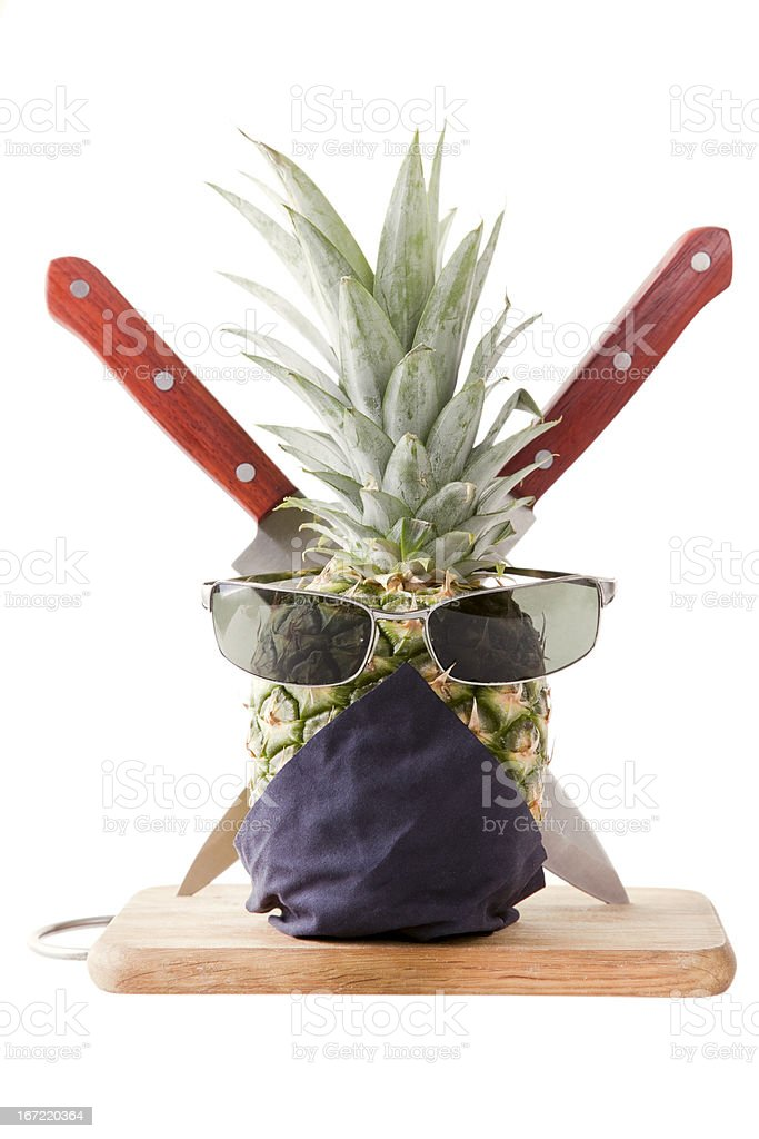 Pinapple Dangerous Ninja stock photo