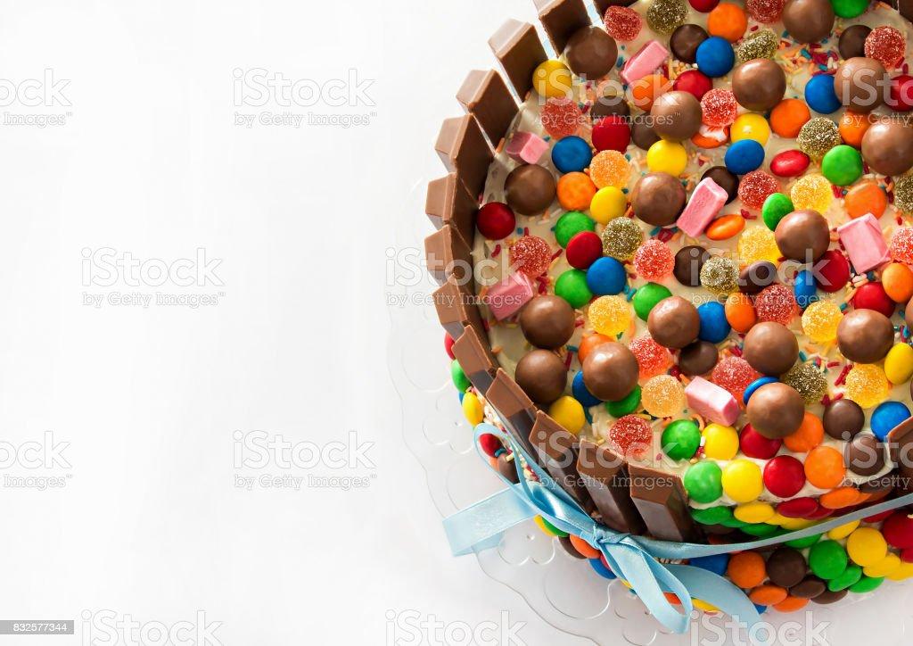 Admirable Pinata Cake Multicolored Candies Stuffed Birthday Cake With Sweets Funny Birthday Cards Online Benoljebrpdamsfinfo