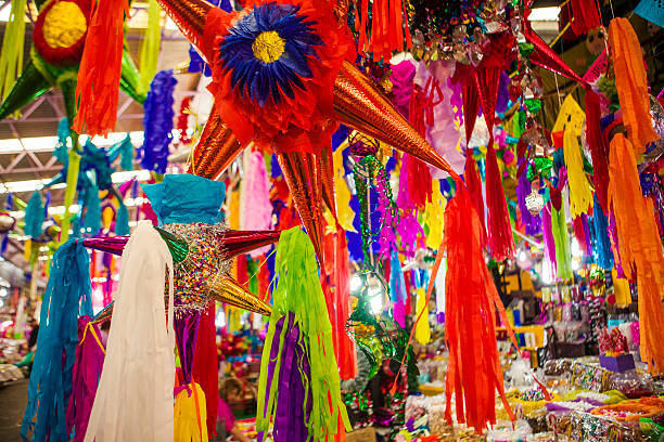 pinatas - mexico stock photos and pictures