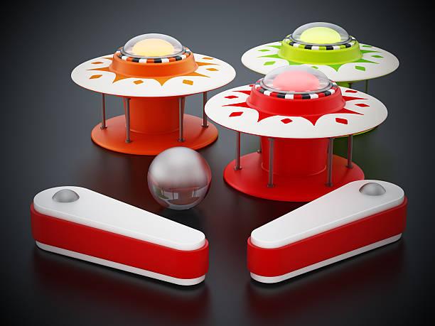 flipperautomat - pinball spielen stock-fotos und bilder