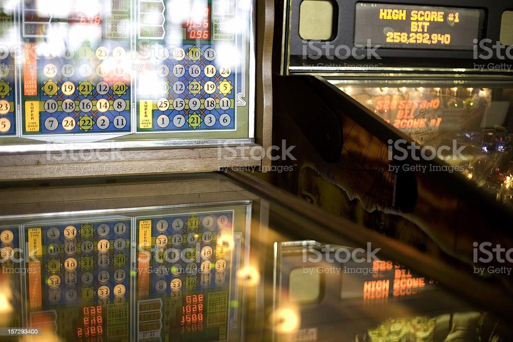 Pinball Play stock photo