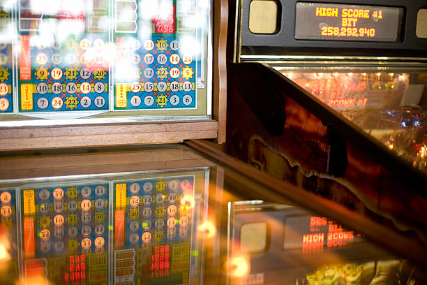 Pinball Play stock photo