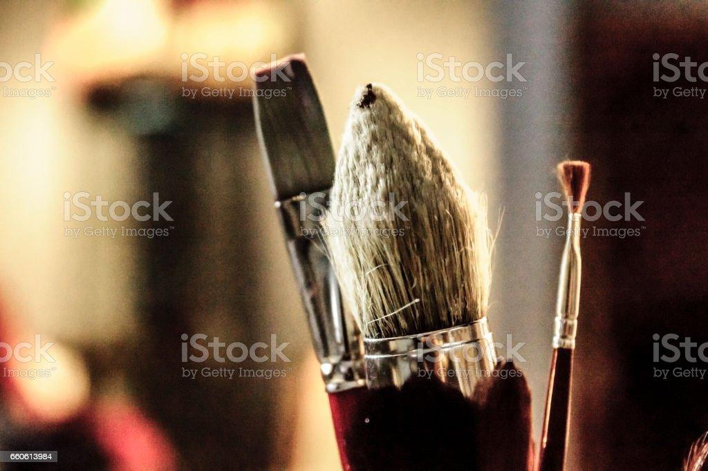 Pinceau d'artiste stock photo