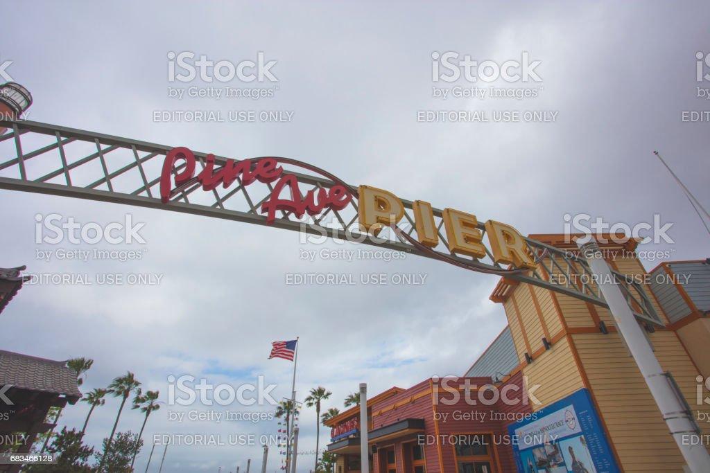 Pine Ave Pier stock photo