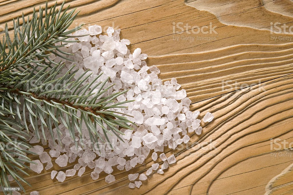 pine bath items. alternative medicine royalty-free stock photo