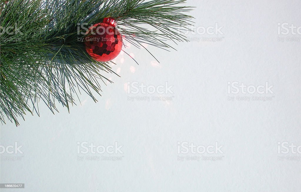 pine bough and ornament royalty-free stock photo