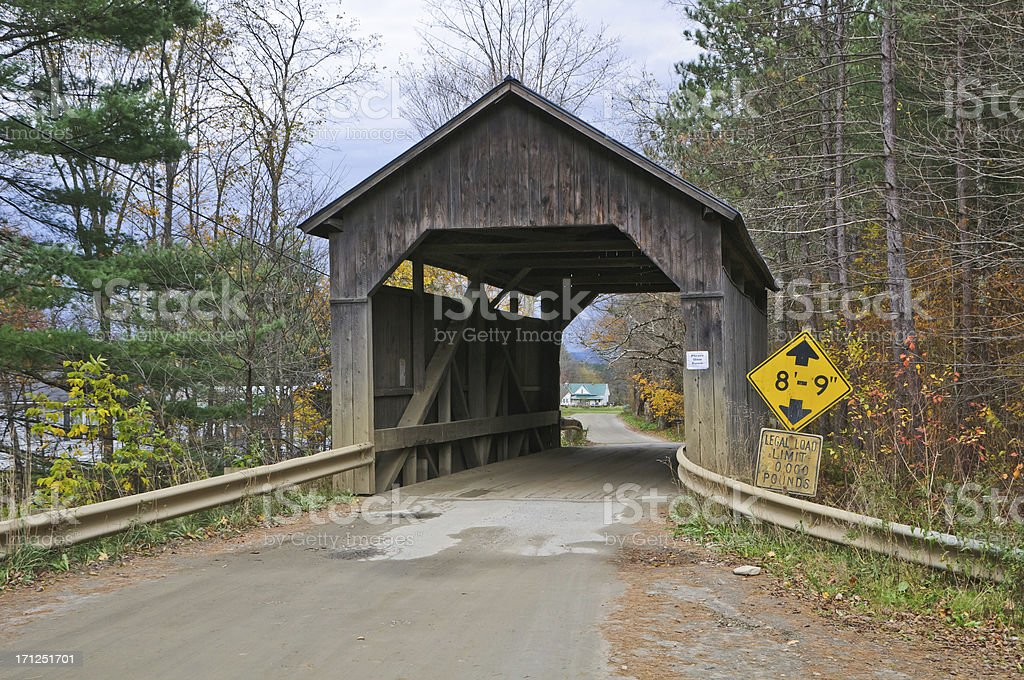 Pine Brook Bridge stock photo