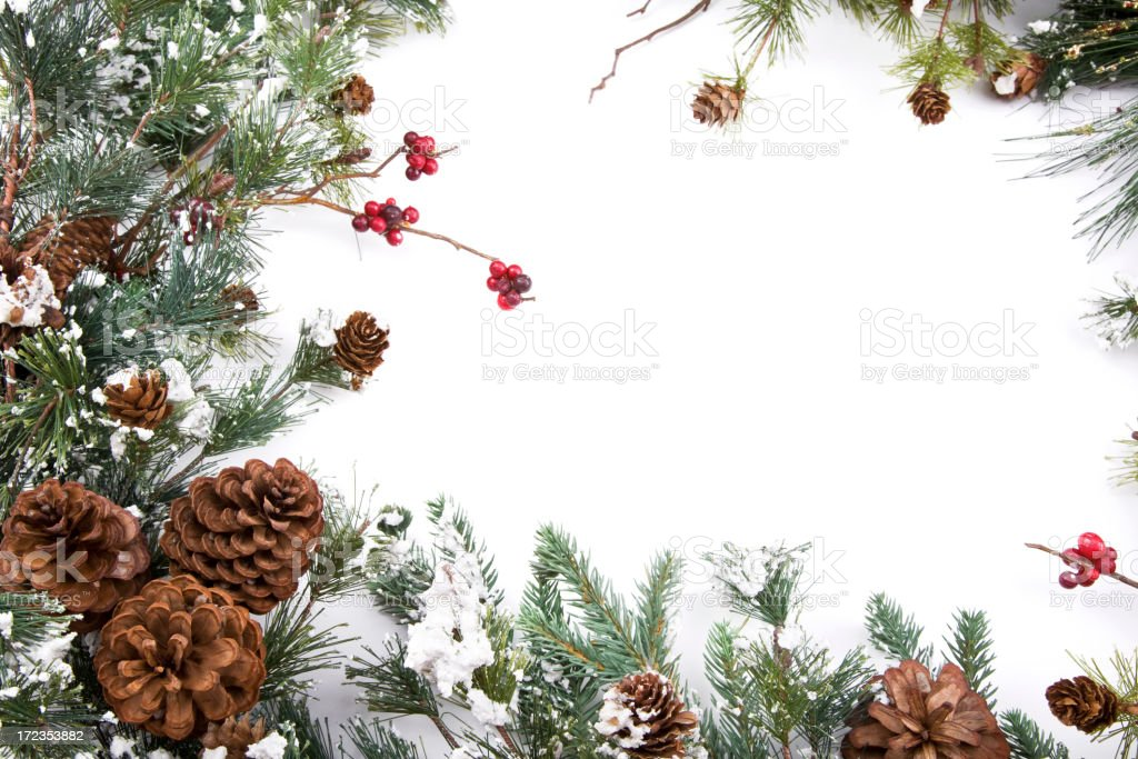 Pine Cone Garland royalty-free stock photo
