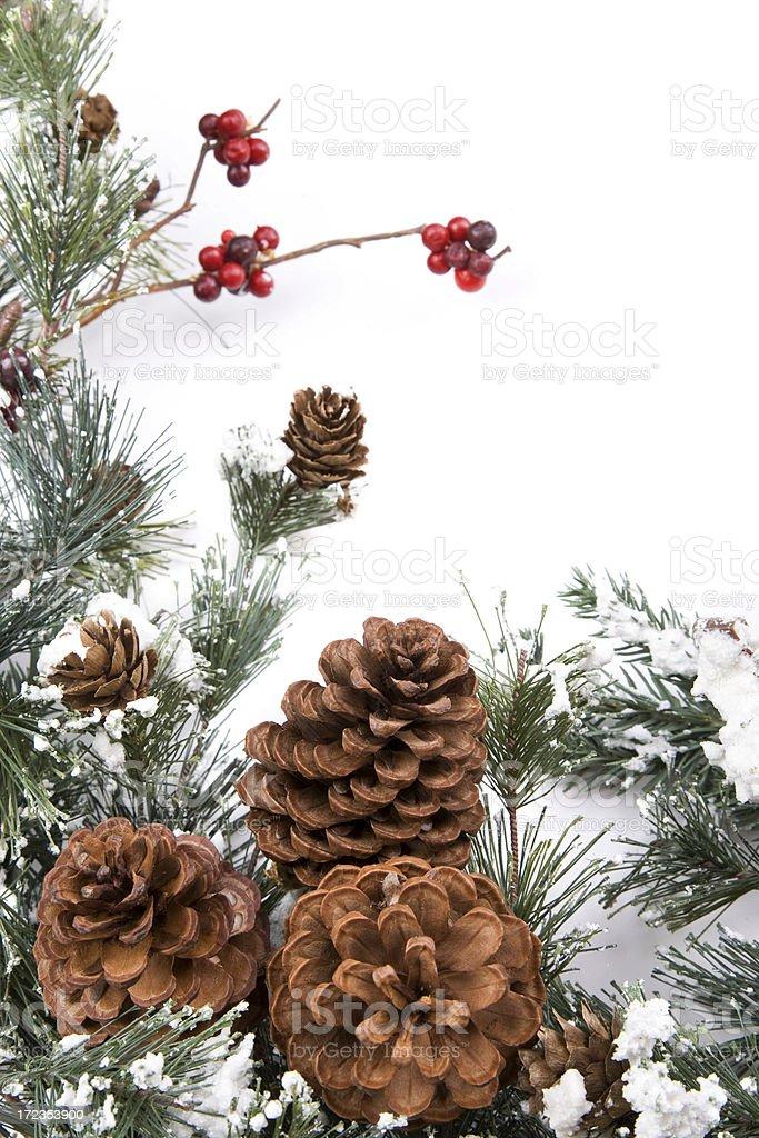 Pine Cone Garland royalty-free stock photo