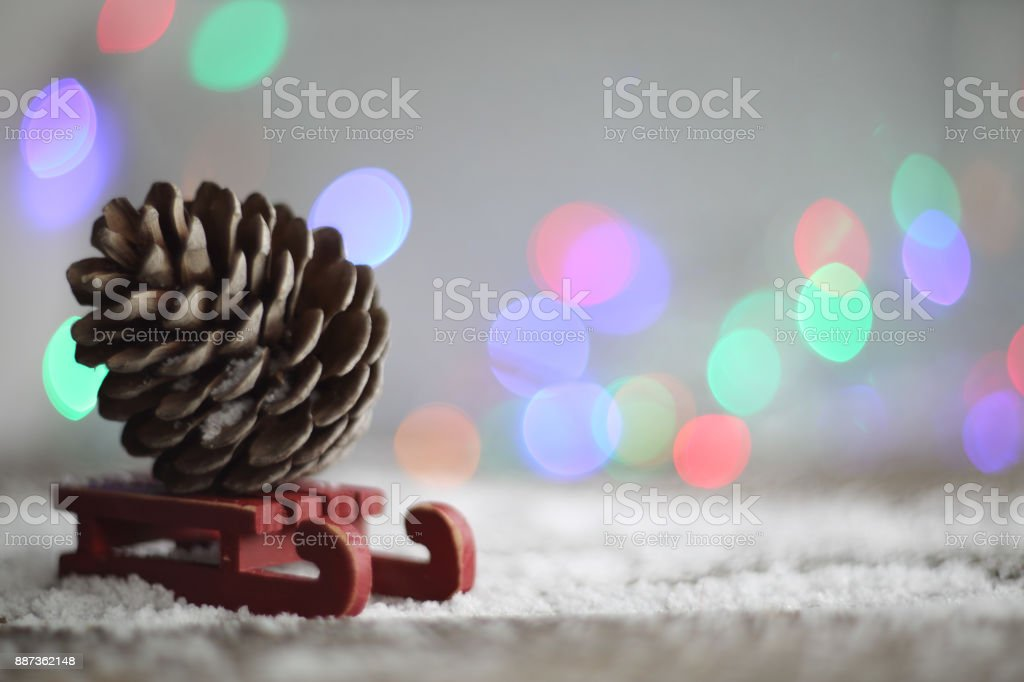 Pine cone wooden background stock photo