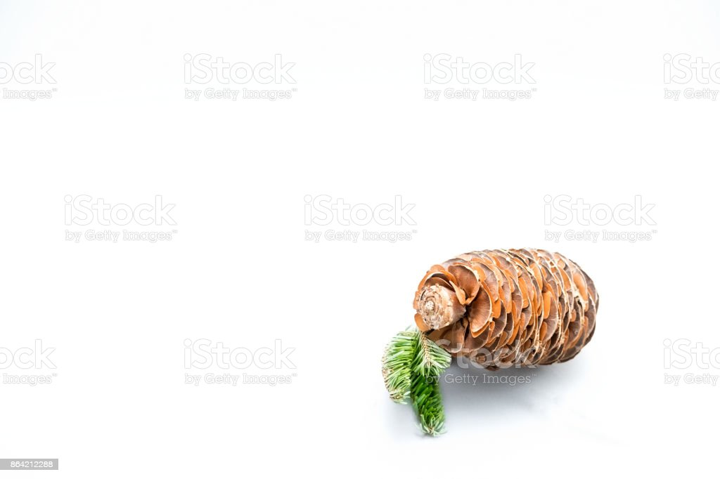 pine cones and spruce twigs for the new year and Christmas royalty-free stock photo
