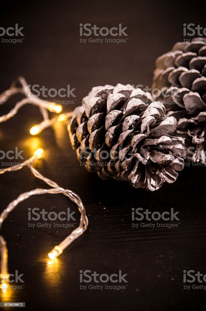 Pine cones for Christmas stock photo