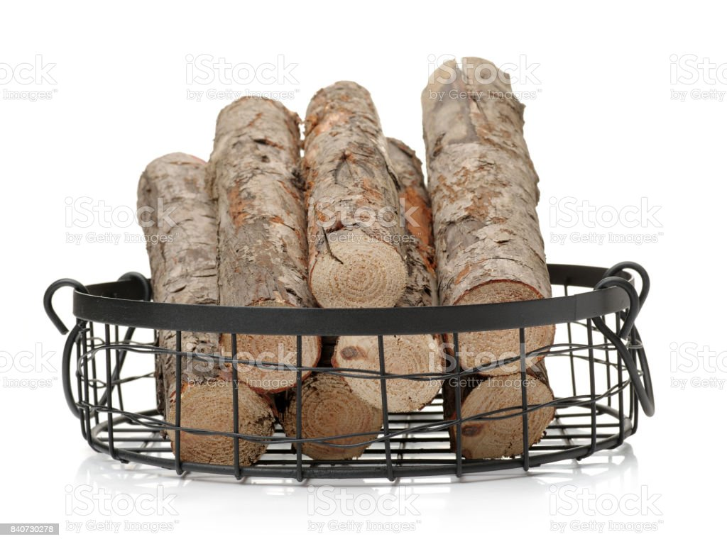 Pine logs on a white background stock photo