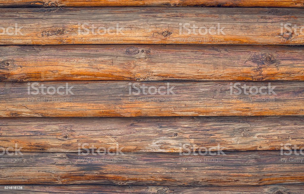 Pine logs. Texture of wooden planks stock photo