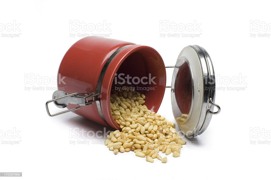 Pine Nut Spill royalty-free stock photo