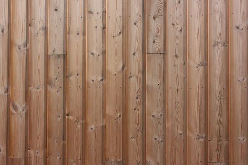 Pine paneled facade