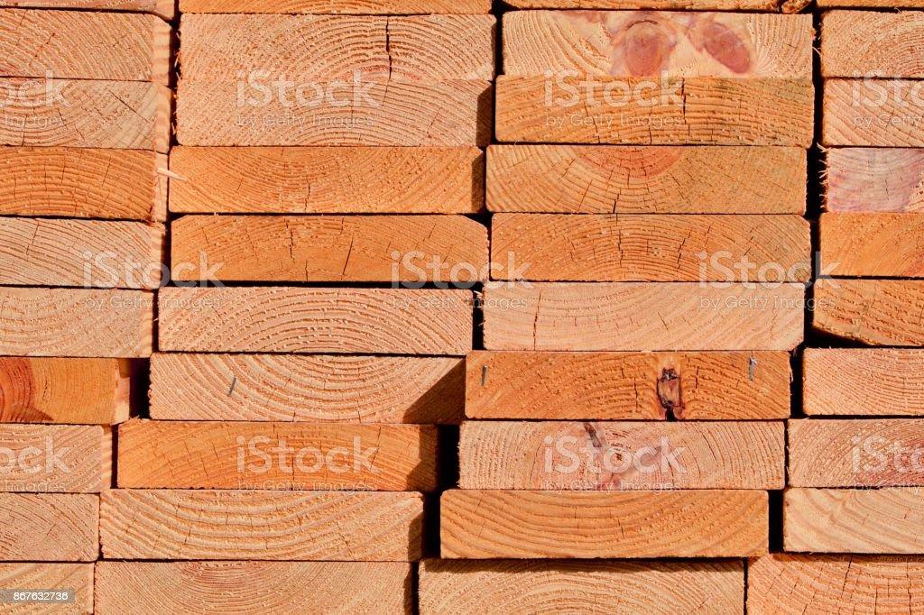 Pine Planks End stock photo