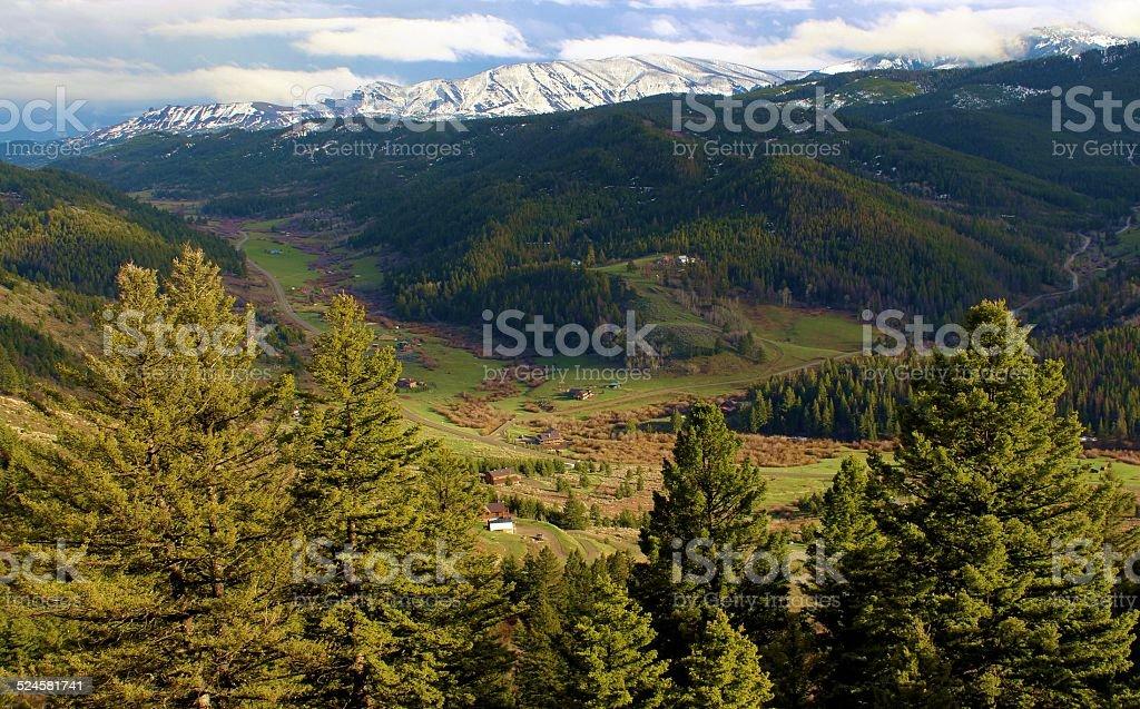 Pine Ridge& Trail Creek stock photo