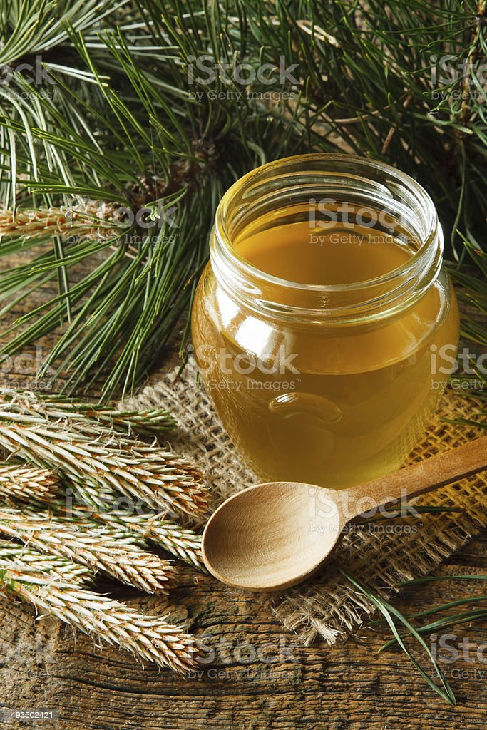 Pine syrup stock photo