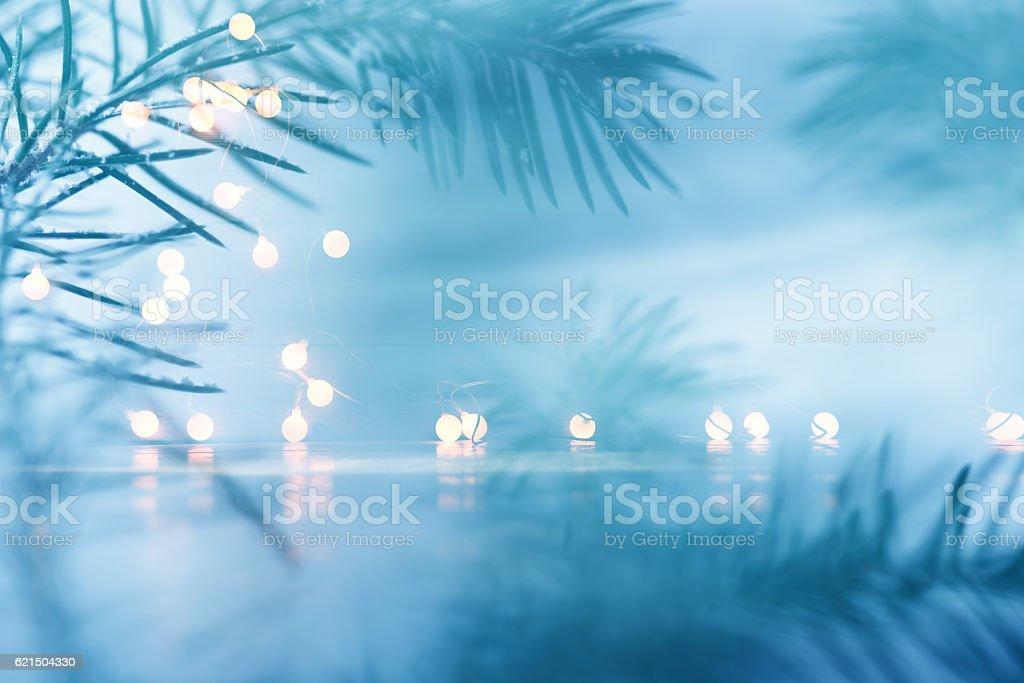 Pino sfondo di Natale Decorazione foto stock royalty-free