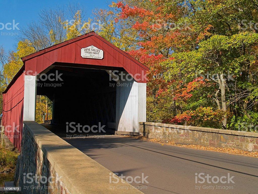 Pine Valley Covered Bridge stock photo