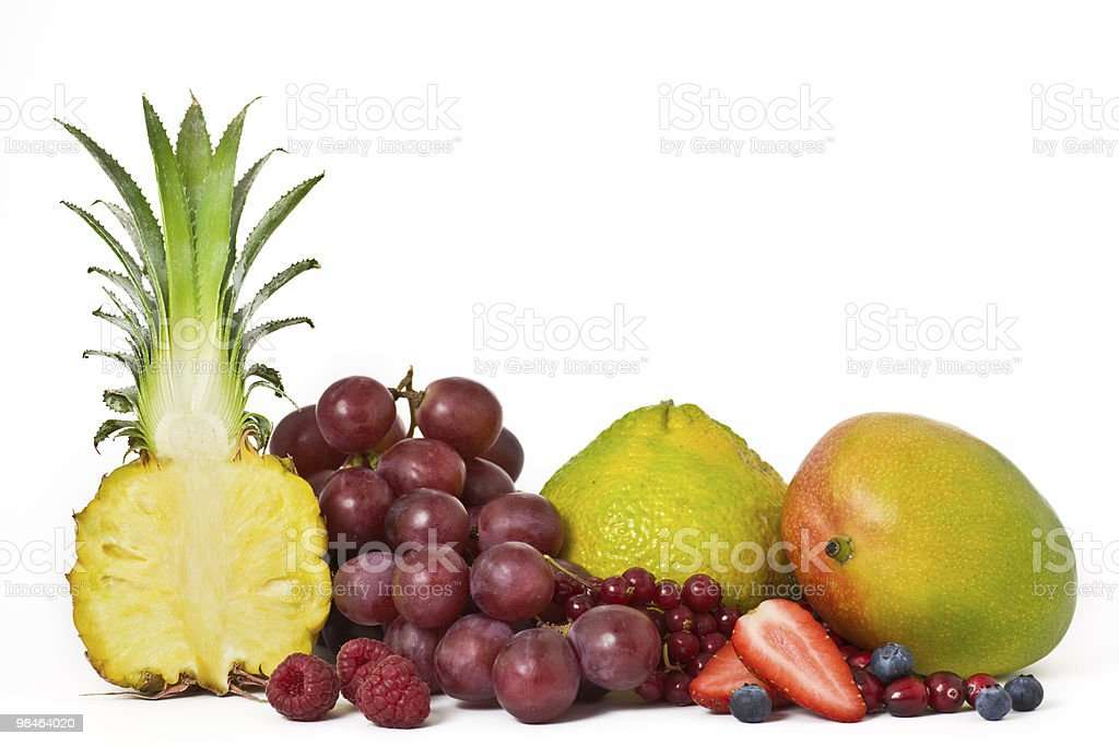 Pineapple and Fruits royalty-free stock photo