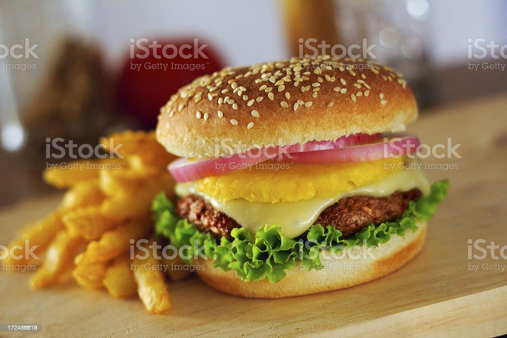 Pineapple Burger royalty-free stock photo