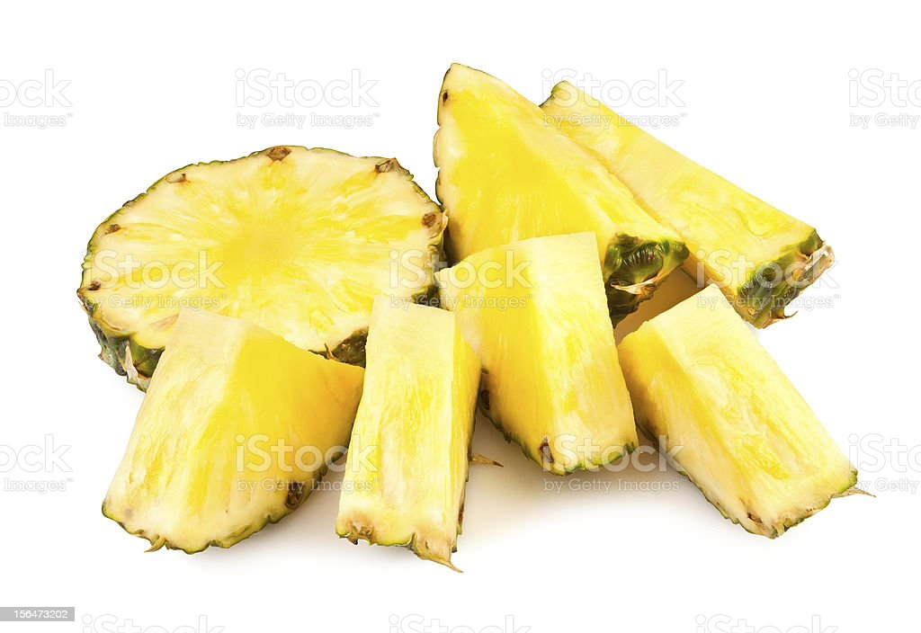 pineapple chunks royalty-free stock photo