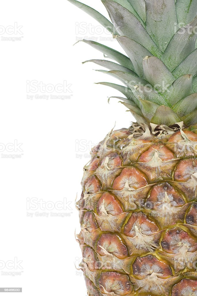 Pineapple close up. royalty-free stock photo