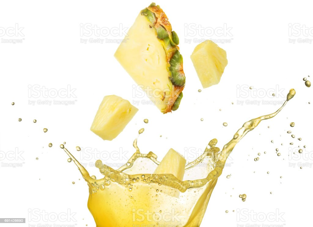 tomber dans le jus d'ananas - Photo