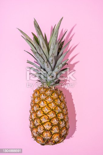Pineapple Fashion on pink background