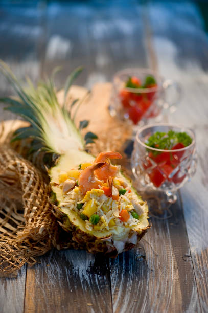 pineapple fried rice / Nasi Goreng Nanas stock photo