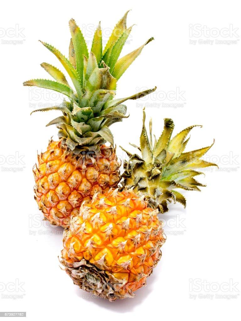 Pineapple fruit isolated stock photo