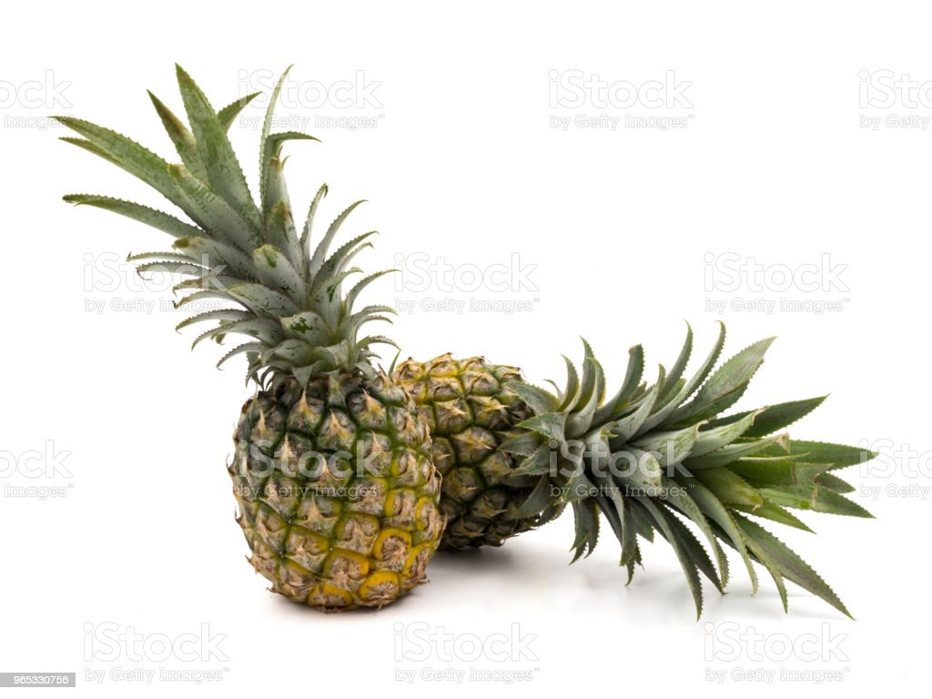 Pineapple fruit on a white background zbiór zdjęć royalty-free