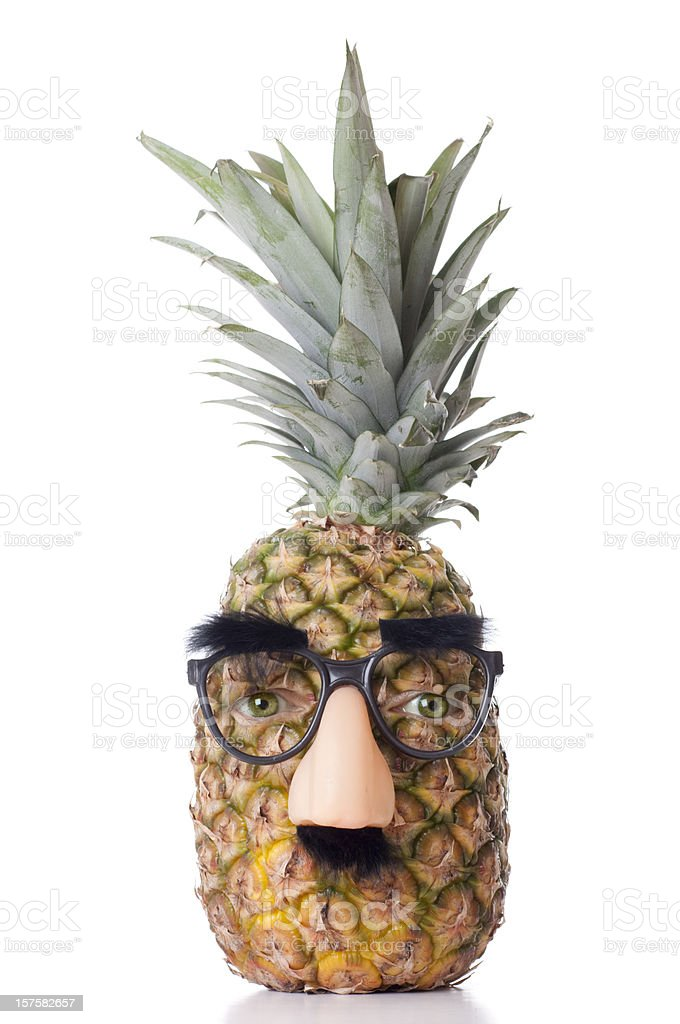Pineapple Head stock photo