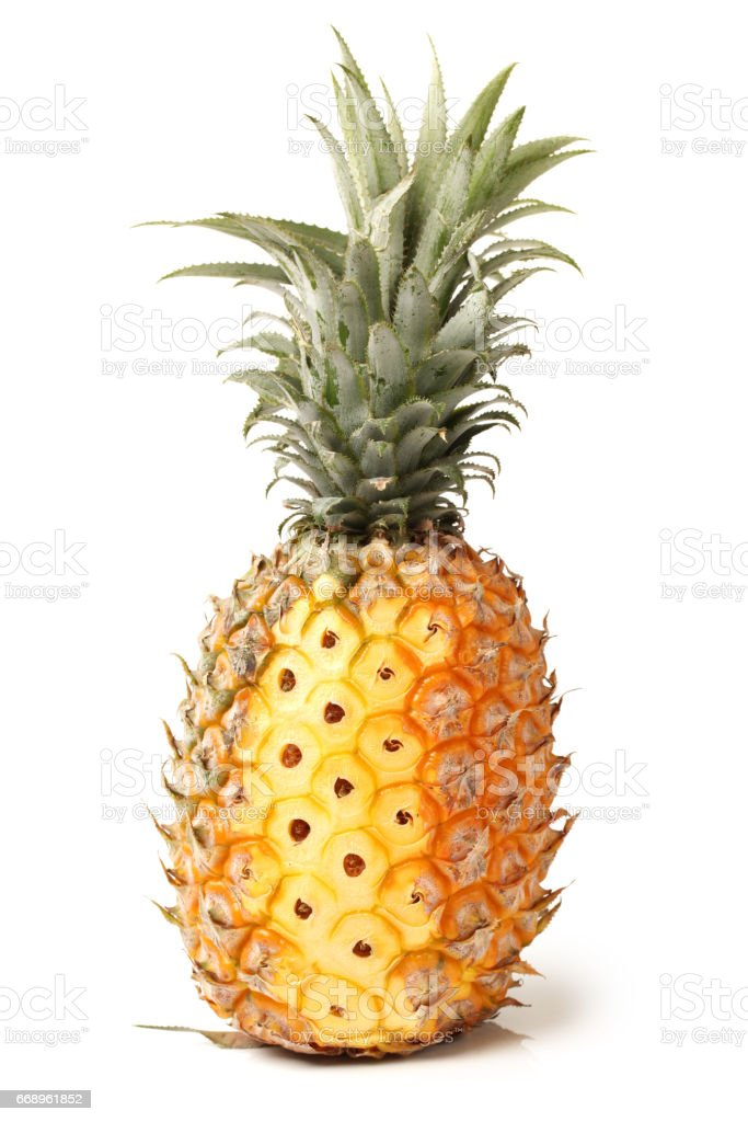 Pineapple isolated on a white background foto stock royalty-free